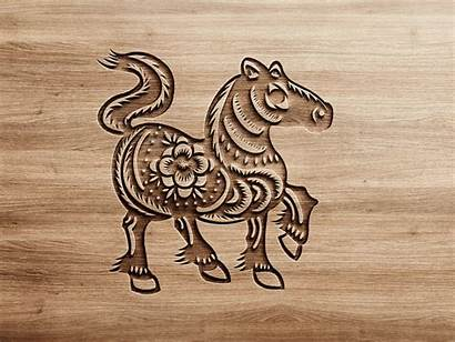 Chinese Horse Dribbble