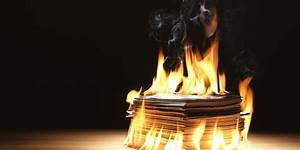 chilean artist francisco tapia burns financial documents With burning documents