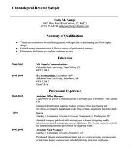 basic resume format download pdf chronological resume 9 sles exles format