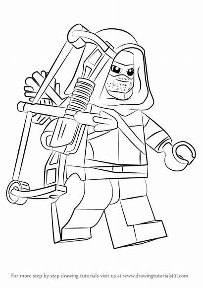 Lego Arrow Drawing Draw Step Tutorials Tutorial