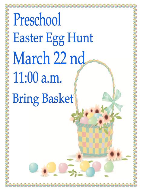 library of graham preschool easter egg hunt city of 839 | easter18x24