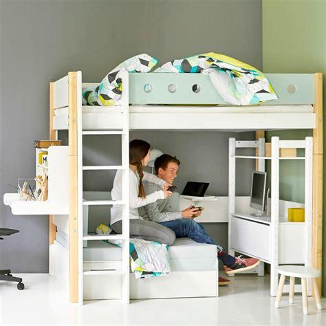 Flexa Schreibtisch Weiß by Flexa Hochbett White Casa Mit Sofabett Und