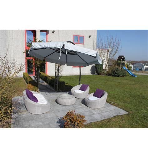 parasol d 233 port 233 sun garden easy sun classique avec volants toile olefin gris clair
