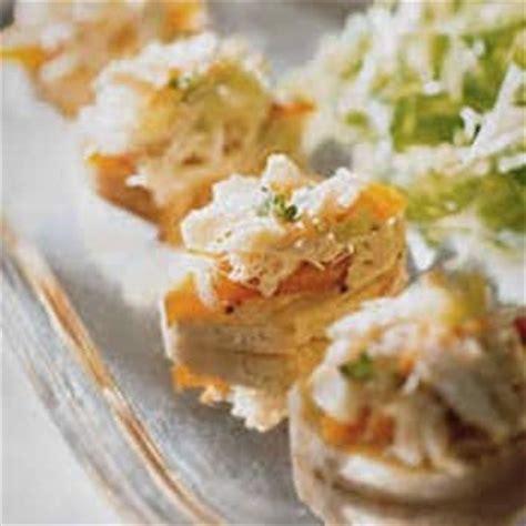 canapes aperitif originaux canape au crabe