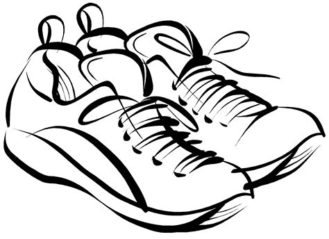 shoe clipart black and white tennis shoes clipart black and white free 4 2 wikiclipart