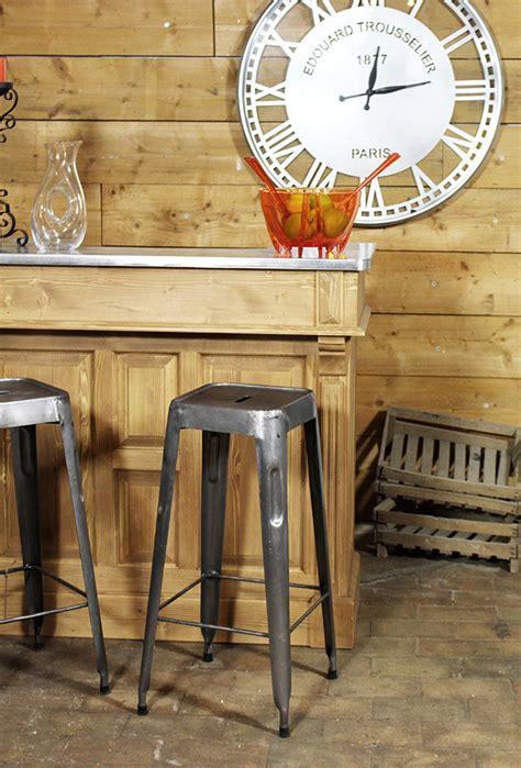 cuisine inox bois déco style quot cuisine bistrot quot déco made in meublesle