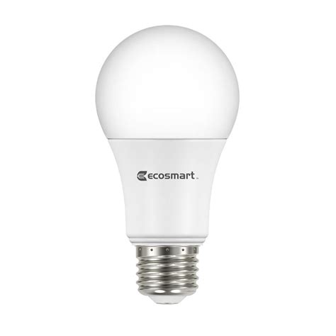 non dimmable led lights ecosmart 60w equivalent soft white a19 basic non dimmable