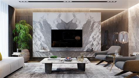 Residence in Izmir on Behance Living room design modern