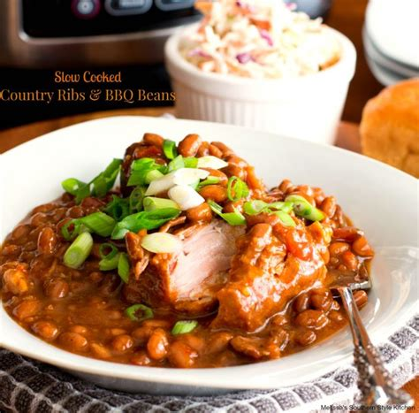 Easy Slow Cooked Country Ribs And Barbecue Beans