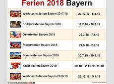 Ferien Bayern 2018 Übersicht der Ferientermine