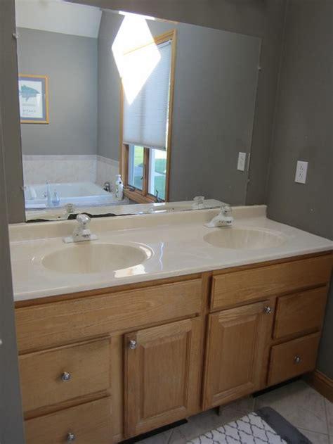 updating bathroom vanity mirror  lighting