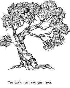 'Trees of Wisdom' coloring book - With relaxing trees to