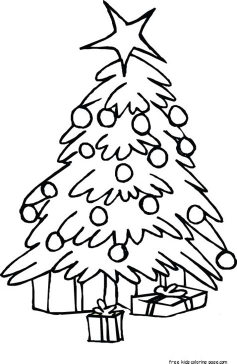printable christmas tree coloring pages  kidsfree printable coloring pages  kids