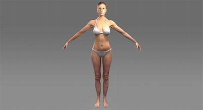 Character Female Realistic Rigged Models Woman Bikini