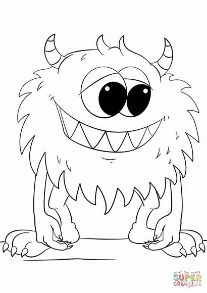 Dibujos Colorear Monster Coloring Cartoon Imprimir