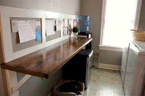 DIY faux butcher block laundry room counter   The Creek