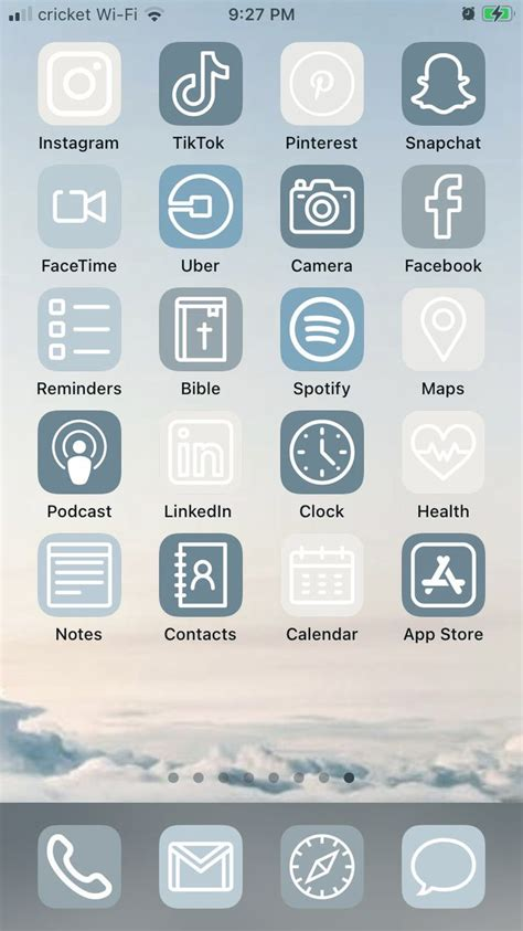 blue skies ios 14 aesthetic iphone app icons 50 pack