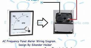 How To Wire A Frequency Meter  Hz