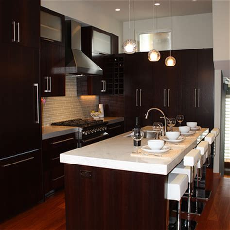 Modern Espresso Kitchen Cabinets Design Ideas