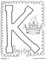 Coloring King Kings Letter Jesus Bible Alphabet Josiah Sheet Colouring Crafts Children Holy Christian Ministry Sheets Preschool Christ Luke Printable sketch template