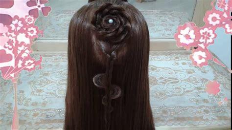 peinados de flor faciles  cabello largo bonitos  rapidos  trenzas  nina  mariposa