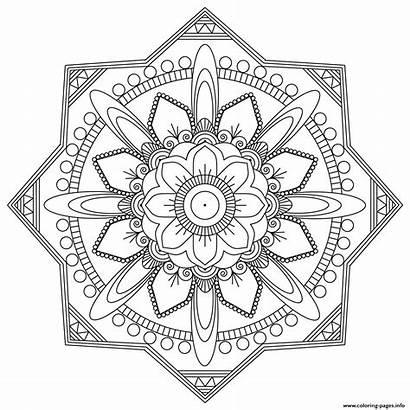 Mandala Coloring Pages Mandalas Adult Easy Fun