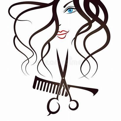 Scissors Comb Face Salon Beauty Silhouette Vector