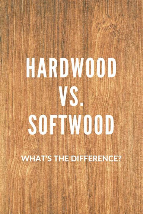 difference  hardwood  softwood amazon