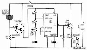 rain sensor sensor circuit circuit diagram seekiccom With rain alarm circuit