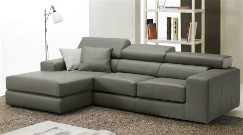 canapé d 39 angle réversible en cuir gris pas cher canapé