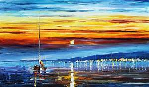 20 Mind blowing Sun rise and Moon Paintings - Graphic Cloud