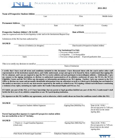letter  intent examples  word pages google docs