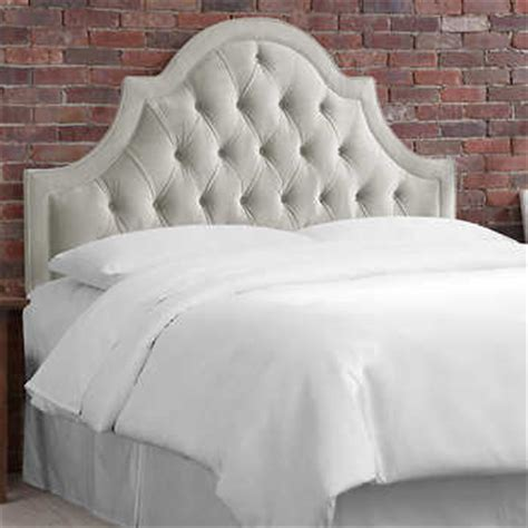 grey upholstered bed headboards costco