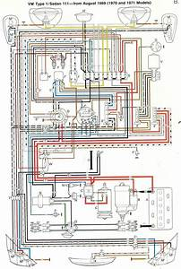 1969 71 Beetle Wiring Diagram Thegoldenbug Com For 1970 Vw And