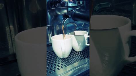 I guess that half of those 12 ounces is foam. double shot coffee - YouTube