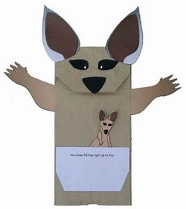If i were a kangaroo paper bag puppet for Kangaroo puppet template
