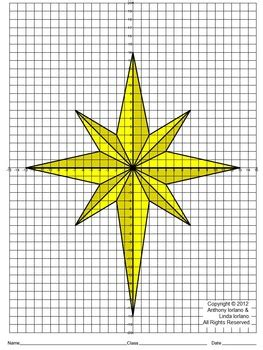 star  bethlehem christmas coordinate drawing