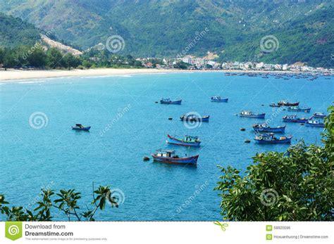 Vietnam Landscape Beach Mountain Ecology Travel Stock