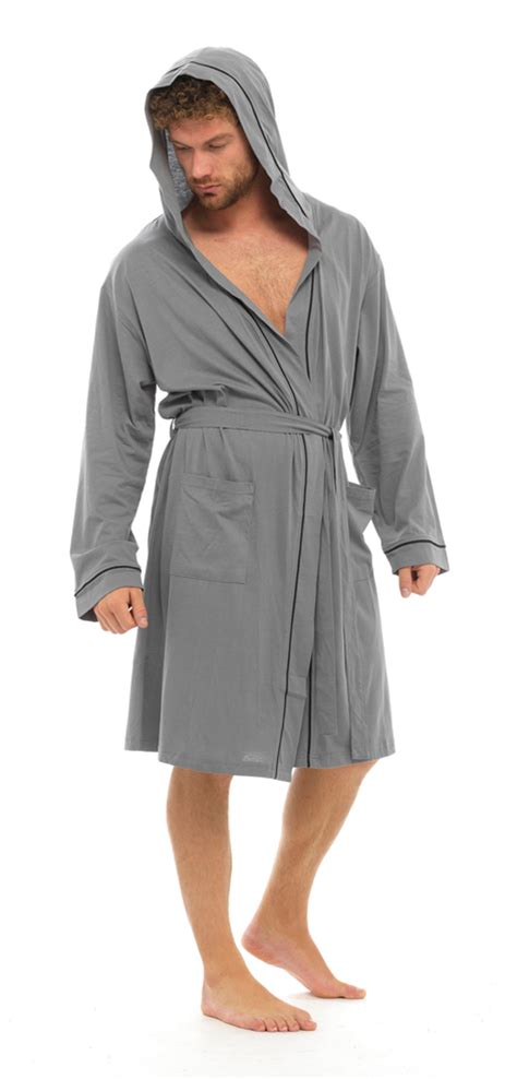 robe de chambre kimono mens lightweight hooded robe summer dressing gown 100
