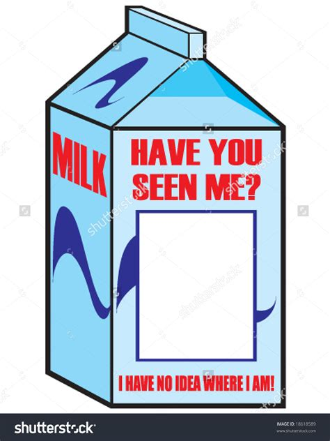 milk missing person template missing milk clipart clipartxtras