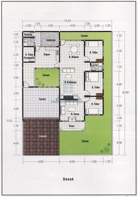 denah rumah minimalis  lantai  kamar tidur denah rumah