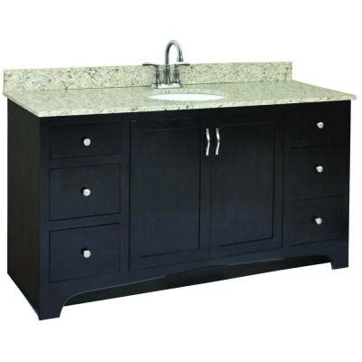 60 sink vanity home depot design house ventura 60 in w x 21 in d unassembled