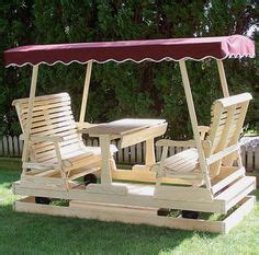 amish pine double lawn swing glider  canopy lawn