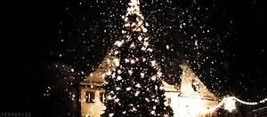 love Christmas snow winter lights tree tumblr city ...