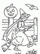 Witch Coloring Pages Cute Halloween Printables Wuppsy Tags Find sketch template