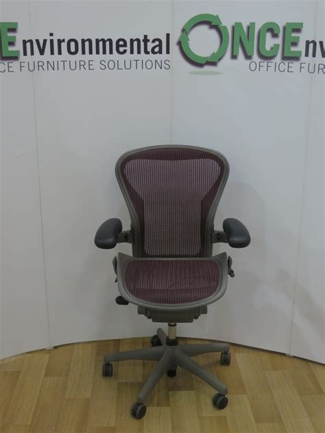 used chairs herman miller aeron b size with mesh seat