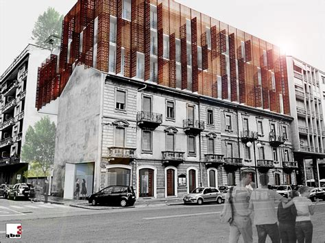 New Apartments Wrapped In Playful Corten Steel Facade