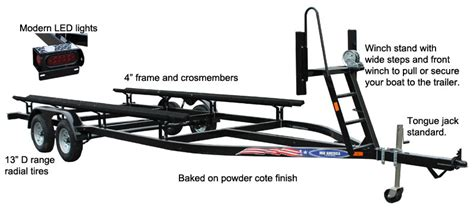 The Boat Motor And Trailer Have Weights by Pt20 T Tandem Axle Pontoon Trailer Features