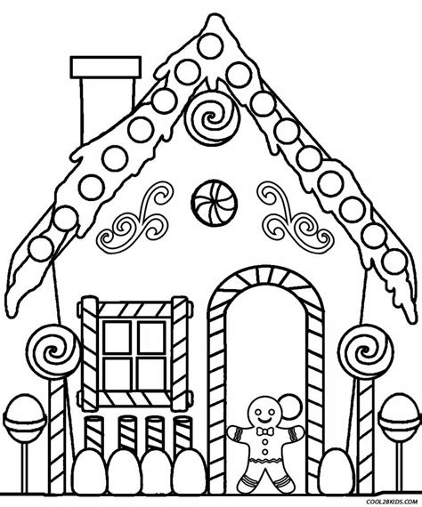 Coloring House by Printable Gingerbread House Coloring Pages For