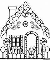 Coloring Gingerbread Printable sketch template